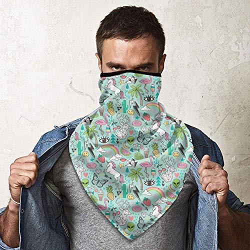July zomer gele ananas drank windbreak bandana sjaal gezichtsmasker wasbaar stofmasker bivakmuts