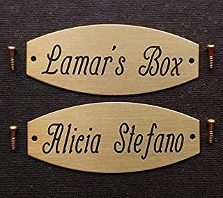 Solid Brass or Nickel Silver Tack Trunk Plate 3