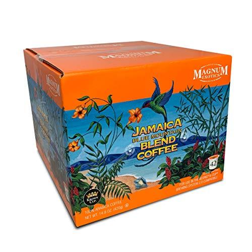 Magnum Exotics Coffee - Coffee Pods, Single Serve Coffee Pod - Jamaican Blue Mountain Blend Coffee, Light-Medium Roast, Made With 100% Arabica Coffee, Magnum Coffee Roastery - 42 Coffee Pods