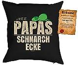 Geschenk Papa Kissen mit Füllung - Papas Schnarchecke - Weihnachten Nikolaus Weihnachtsgeschenk...