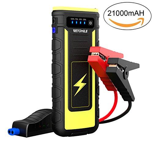 VETOMILE Arrancador de Coche 21000mAh 800A,Jump Starter para Coches, Motos etc,...