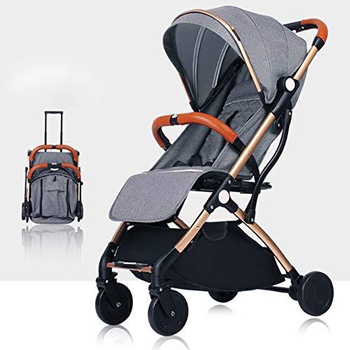 YANGSANJIN Leichte Sitzbuggys, Kinderwagen & Buggys - Kinderwagen 3 in 1 buggys Kinderwagen für Kinder - Mit Einkaufskorb und Sicherheitsgurt, Dark Gray