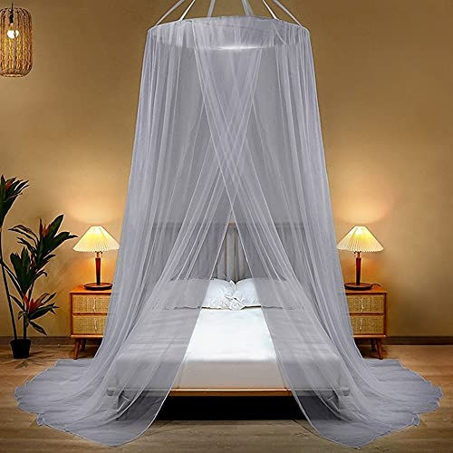 Portable Hung Dome Mosquito Net On The Bed Hanging Kids Baby Bed Canopy Camping Mosquito Net Repellent Tent Insect Curtain for Home Indoor Outdoor (Color : C, Size : 2.0m (6.6 feet) bed)