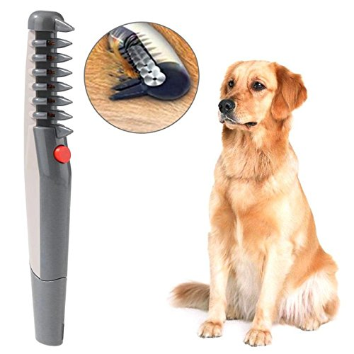 Electric Pet Dog Grooming Comb Cat Hair Trimmer Knot Out Remove Mats...