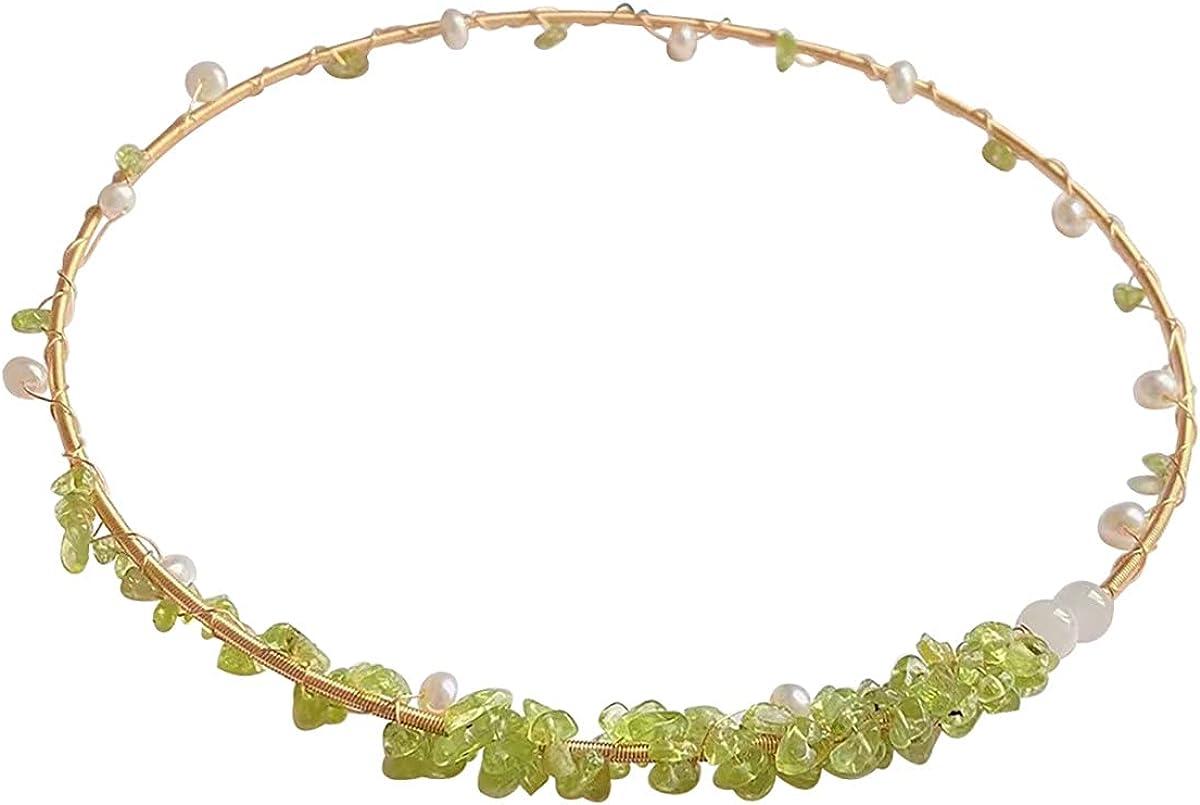 Qordelia Natural Rose Quartz Collar Necklace