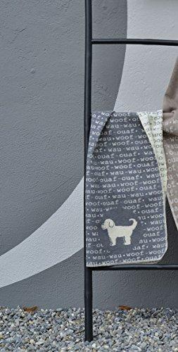 David Fussenegger - Hundedecke - wau-wau - Baumwollmischung - grau - 70 x 90 cm