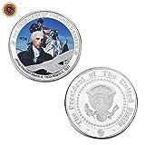 Président Américain,Pièce Commémorative,George Washington,1-5Ème,Haute Qualité,Exquise,Pièces De Défi,Artisanat,2Pcs Monnaie De Décision / 4 / Taille moyenne