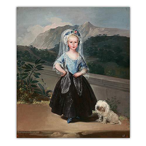 Francisco Goya CláSico De La Lona Salon De Decoracion Marco