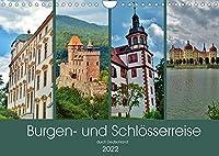 Burgen- und Schloesserreise durch Deutschland (Wandkalender 2022 DIN A4 quer): Beeindruckende Burgen, Burgruinen und Schloesser (Monatskalender, 14 Seiten )