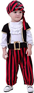 ZTie Little Pirate Costume for Halloween Party Baby Toddler Pirates Outfit Headscarf Belt Set