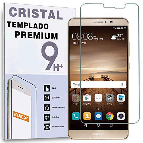 REY Protector de Pantalla para Huawei Mate 9, Cristal Vidrio Templado Premium