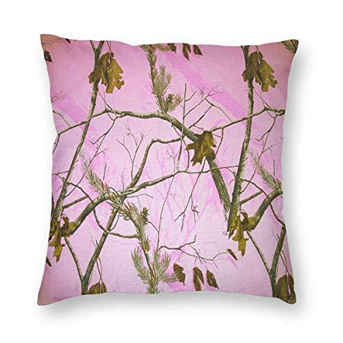 XCNGG Funda de almohada Funda de cojín de almohada para el hogar Ropa de cama Pink Realtree Camo 3D Printed Pattern Square Cushiondecorative Pillow Case Home Decor Square 18x18 Inches Pillowcase/Livin