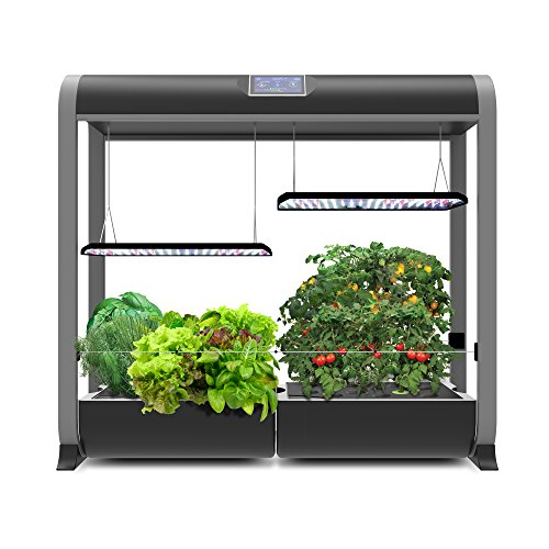 AeroGarden, Black Farm Plus, Hydroponic Garden, 24' Grow Height