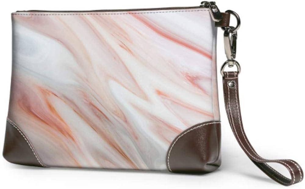 Wristlet Handbag Very popular Marble Texture White Ranking TOP17 Leather Gray Wristl