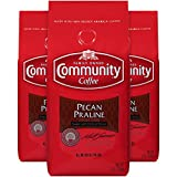 Community Coffee Pecan Praline Flavored Medium Roast Coffee, Ground, 12 Ounces (3 Pack)