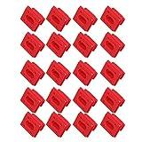 PeroFors 20Pcs / Set Dashboard Dash Trim Strip Clips Rojo Insert Grommets Keeper Clip Fit para BMW E46 E65 / E66 E83N Hebillas De Fijación del Panel Interior
