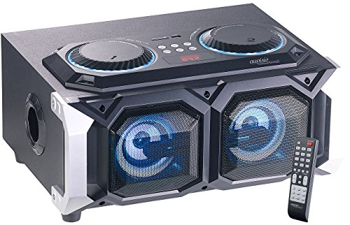 auvisio Karaoke Anlage: 2.1-Stereo-Partyanlage, Bluetooth mit Karaoke-Funktion, 100 W, USB, SD (Karaoke Maschine)