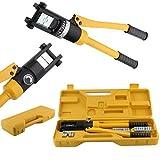 FIXKIT Crimpadora Hidráulica Herramienta Prensa para Cables Alicate 10-300 mm² Presión de Crimpado 16 T con Estuche
