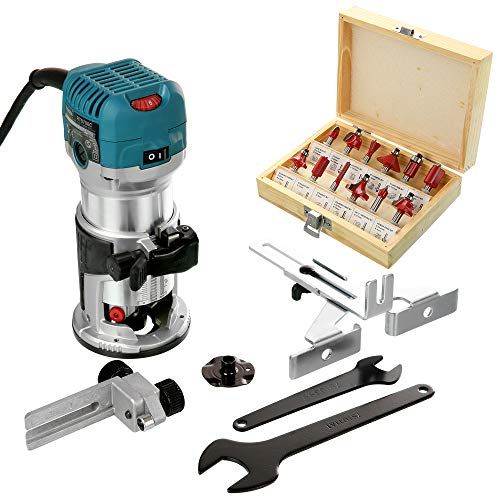 Makita RT0700CX4 Router/Laminate Trimmer 240V with 12 Pc 1/4