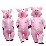 RHYTHMARTS Inflatable Pig Costume Easter Costumes Fancy Dress Masquerade Funny Cosplay Party Clothes