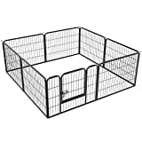 Yaheetech Heavy Duty 8 Panel Dog Play Pen Pet Playpen for Puppy/Rabbit/Duck/Cat Foldable Exercise Pen Indoor Outdoor