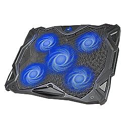 powerful Havit 5 fans laptop cooling pad 14-17 inch laptop, LED cooling pad, dual USB 2.0 …