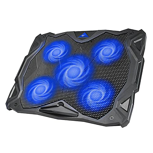 HAVIT Laptop Cooling Fan, Portable Cooling Pad with 5 Quiet Fans and 2 USB...