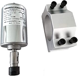 CNCスピンドルキット48V 200ワット/ 300ワット/ 400ワット/ 500ワットの空気はDIY彫刻用1個ER11 / ER16コレットとフライスモーターを冷却しましました (ER11 spindle +52mm bracket,200w)