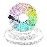 Arotelicht Tira de luz LED de 5m RGB SMD 5050 24V 300 Leds Cadena de luz flexible Tira de luz que cambia de color 60LEDs/m IP20, se puede cortar Tiras de LED para decoración de interiores