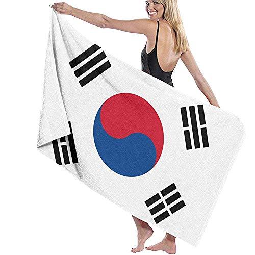 Zwembad Handdoek Zuid-Korea Vlag Strandhanddoek Speciale Bad Handdoeken Snelle Droog Zwembad Handdoek Unisex Microvezel 80X130Cm Bad Sheet Volwassenen Reizen Absorbens Zacht Lichtgewicht Gepersonaliseerd