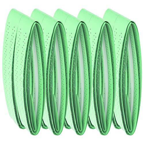 ROMACK Rubinetto con Impugnatura per Racchette da Badminton, Design a Foro Cavo Antiscivolo, Presa con Fascia antisudore, per Racchette da Tennis da Badminton e Manici per canne da Pesca(Verde)