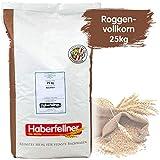 Roggenvollkornmehl 25kg von Haberfellner | 25kg Mehl Sack | Nährstoffreiches Roggenmehl geeignet als Brotmehl für Sauerteig und Mischbrot | Beste Qualität ohne Gentechnik und pestizid-kontrolliert