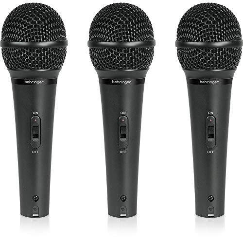 Behringer Ultravoice XM1800S 3 Dynamic Cardioid Vocal und Instrument Microphones (Set of 3)