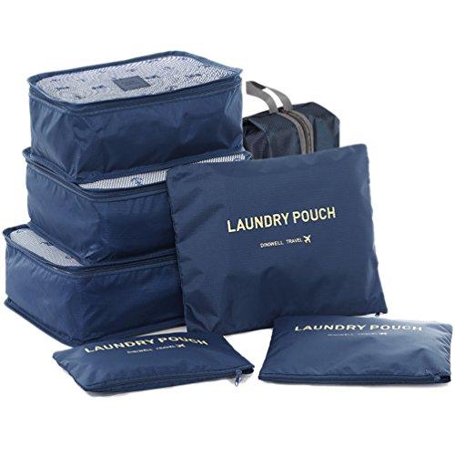 HiDay 7 Set Sistema di Cubo di Viaggio + 3 Cubi di Imballaggio + 3 Sacchetti + 1 Borsa Scarpe Premium - Perfetto di Viaggio Dei Bagagli Organizzatore