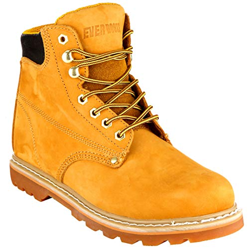 EVER BOOTS 'Tank Men's Soft Toe Oil Full Grain Leather Insulated Work Boots Construction Rubber...