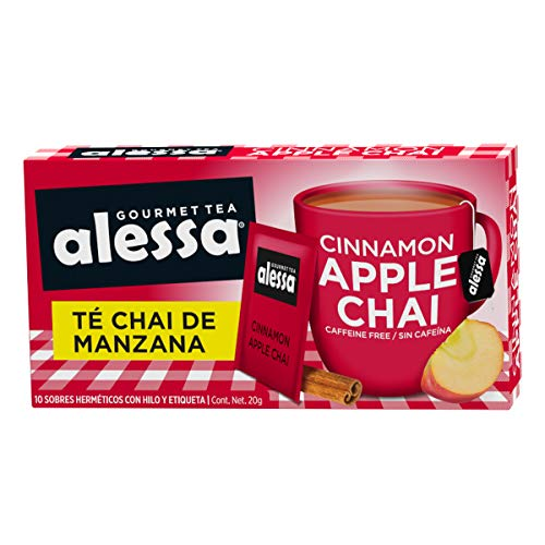Alessa Gourmet Tea Té Chai de Manzana - 10 Sobres, 20 Gramos