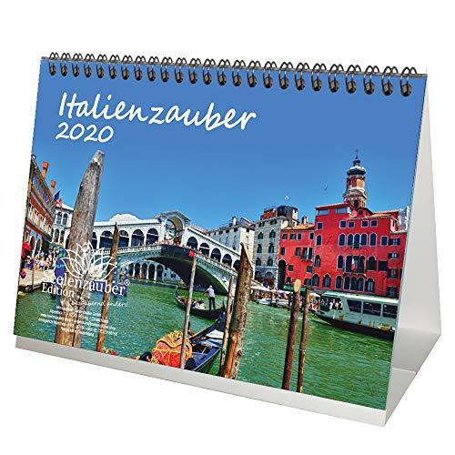 Italiaanse magie DIN A5 tafelkalender 2020 Italië cadeauset: 1 kaart & 1 kerstkaart - Zelmagie
