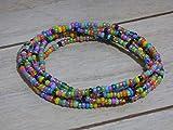 Bau[m]werk Handmade in Germany Schmuck Armband Glasperlen Perlen Handarbeit Wickelarmband bunt Kette Halskette Sommer Ibiza Style