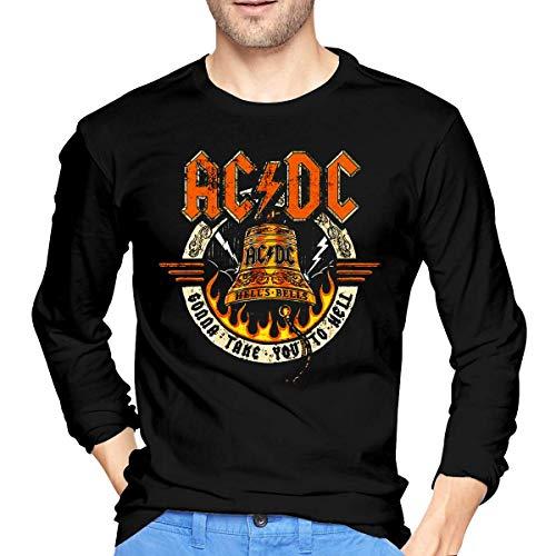 tee Camiseta ACDC Hell's Highway Live Hells Bells Men T Shirt Crew Neck Long Sleeve tee Tops