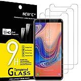 NEW'C 3 Pezzi, Vetro Temperato Compatibile con Samsung Galaxy A7 (2018), Pellicola Prottetiva Anti Graffio, Anti-Impronte, Durezza 9H, 0,33mm Ultra Trasparente, Ultra Resistente