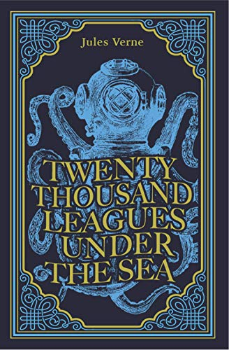 Twenty Thousand Leagues Under the Sea, Jules Verne Classic Novel, (Captain Nemo, Ocean Adventure Tale), Ribbon Page Marker, Perfect for Gifting