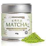 40g Organic Matcha Green Tea Powder Japanese Ceremonial Grade from Uji, Kyoto, First Harvest Stone-Ground, UK Soil Association Certified, Natural Energy & Focus, Vegan, Detox Superdrink, Large 40g Tin