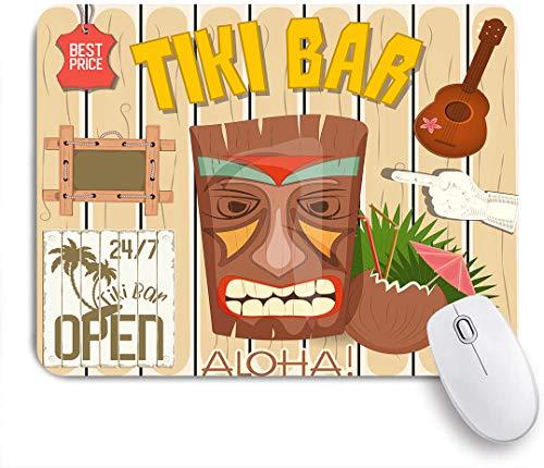 SUHOM Gaming Mouse Pad Rutschfeste Gummibasis,Tiki Bar Poster,für Computer Laptop Office Desk,240 x 200mm