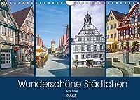 Wunderschoene Staedtchen (Wandkalender 2022 DIN A4 quer): Ich will sie zu einem Treffen mit 12 wunderschoene Ortschaften einladen, wo Zeit ganz langsam laeuft. (Monatskalender, 14 Seiten )