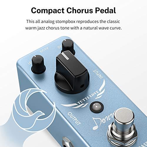 Donner pedal de efectos para guitarra, chorus analógico, true Bypass Tutti Love Chorus