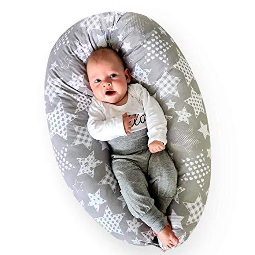 BeBeLoo Stillkissen Schwangerschaftskissen Seitenschläferkissen Babynestchen Lagerungskissen Stillmond- treuer Begleiter während und nach der Schwangerschaft – für Mütter und Babys