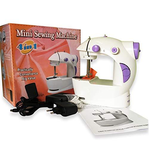 Aihifly Mini máquina de Coser Mini máquina de Coser para el hogar Herramienta de Costura Bricolaje