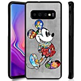 DISNEY COLLECTION Phone Case Compatible Samsung Galaxy S10 Cute Mickey Disney Family Anti-Slip Shockproof Protective Tired Case Cover for Galaxy S10 6.1Inch