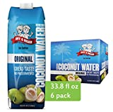 Amy & Brian Pure Coconut Water, 1 Liter (Pack of 6) | Best Tasting Coconut Water | Non-GMO & No Added Sugar | Refreshing & Hydrating Real Coconut Water