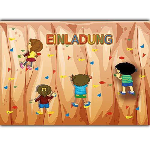 Uitnodiging, klimpark voor verjaardag, uitnodigingskaarten voor kinderen, klimzaal, klimhal voor jongens, meisjes, kinderen, kaarten, uitnodigingen, klimpark (niet beschikbaar in het Nederlands)